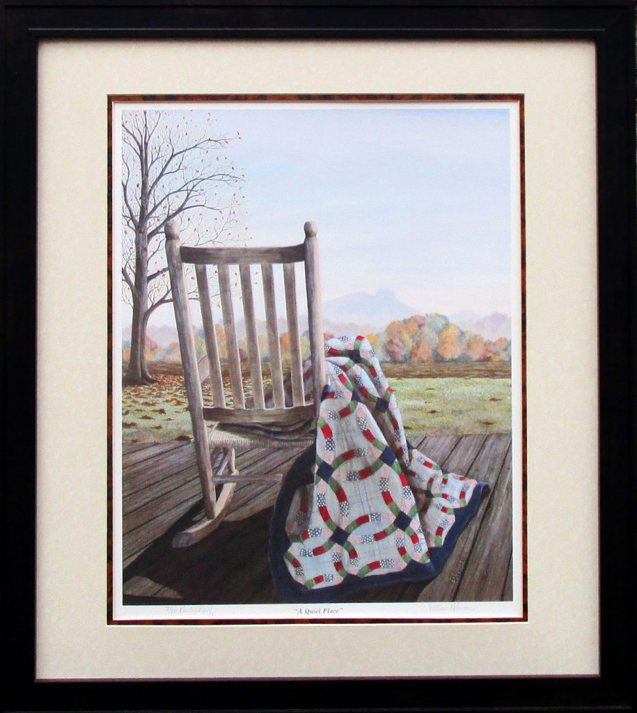 "Patricia Hobson's art print ""A Quiet Place."""