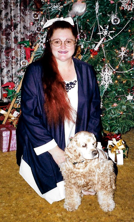 Patricia Hobson and her puppy Elsa May who was her best friend until she passed away at the age of 18.