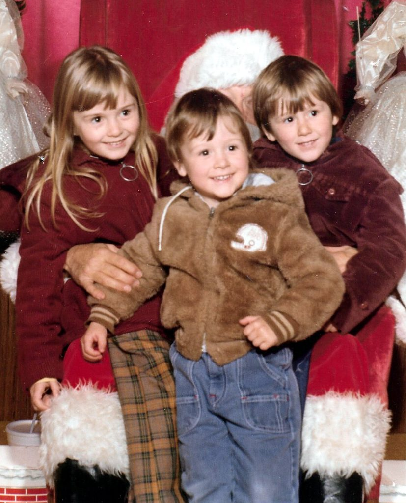 Patricia and Felix's young children Natalie, Nathan and Julian