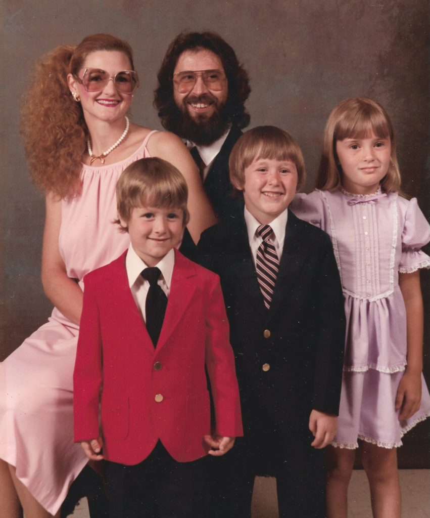 Patricia Hobson and her family. Husband, Felix, Natalie, Nathan and Julian.