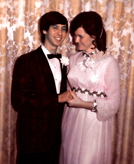 Patricia Steelman and Felix Hobson on junior prom night.