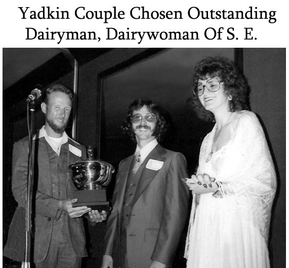 Patricia and Felix Hobson winning the Young Dairyman / Dairywoman competition.