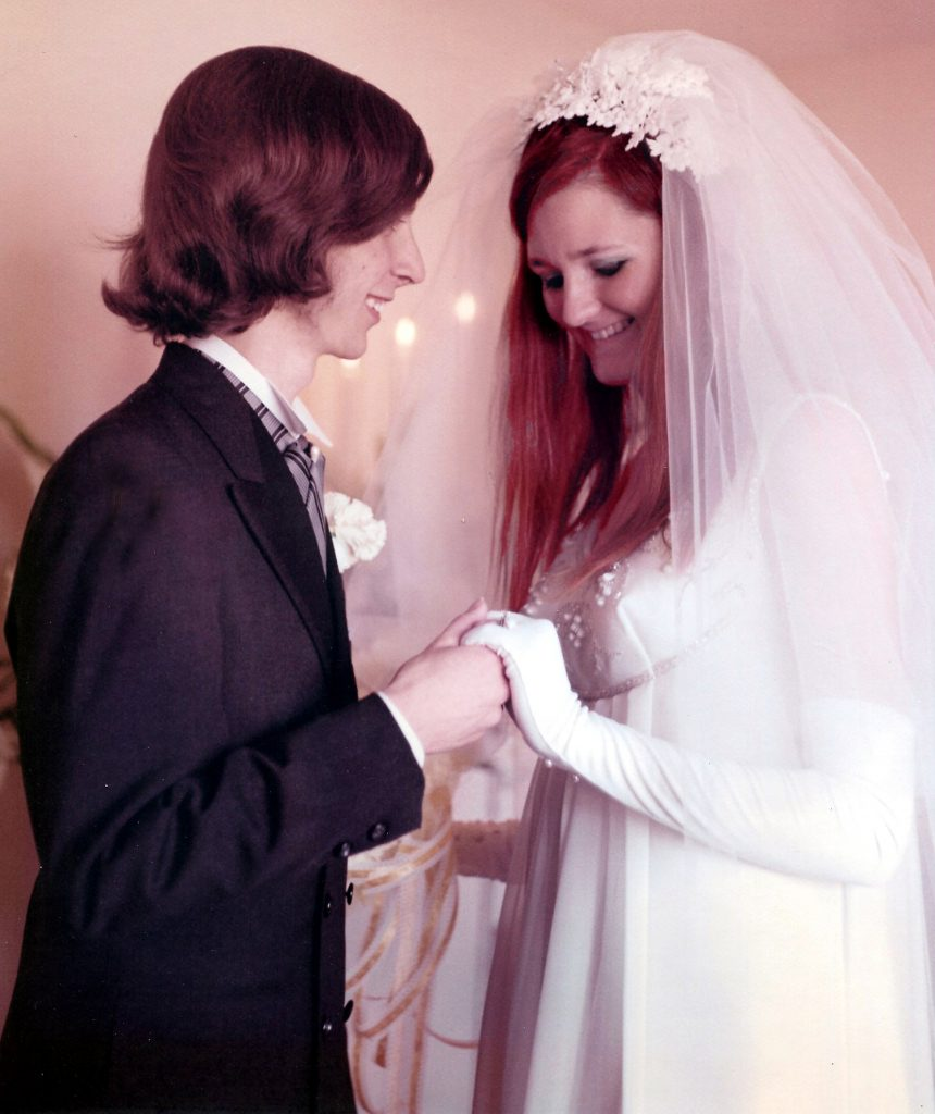 Patricia and Felix at their wedding.