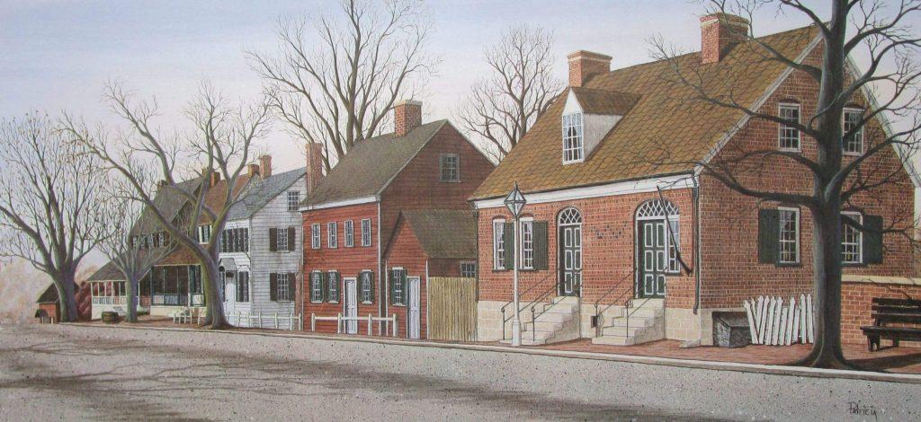 """Salem Radiance"" a scene featuring the Moravian village of Old Salem, North Carolina."